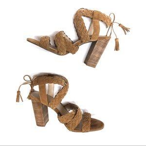 BCBGeneration Brown/Tan Ledina Strappy Sandals